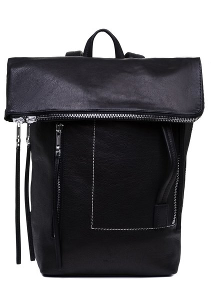 RICK OWENS SMALL DUFFLE BAG IN BLACK CALF LEATHER