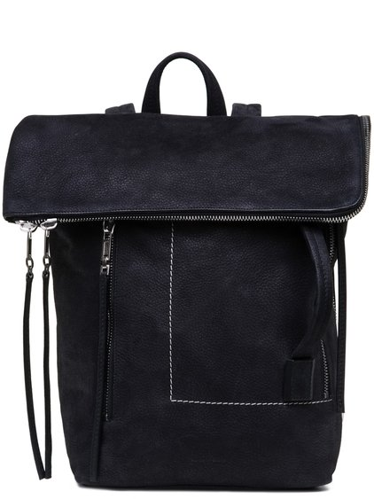 RICK OWENS SMALL DUFFLE BAG IN BLACK VINTAGE CALF LEATHER
