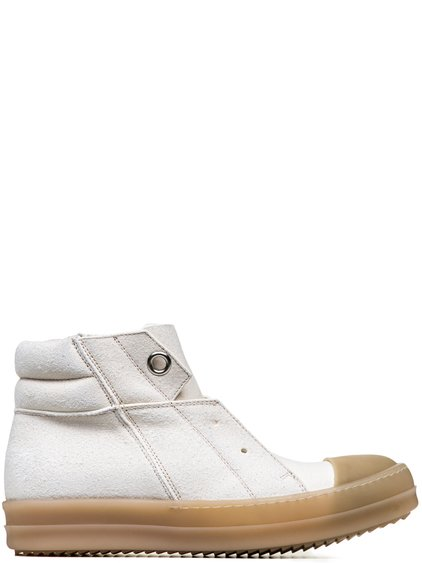 RICK OWENS RUBBER ISLAND SNEAKS IN NATURAL CALF LEATHER