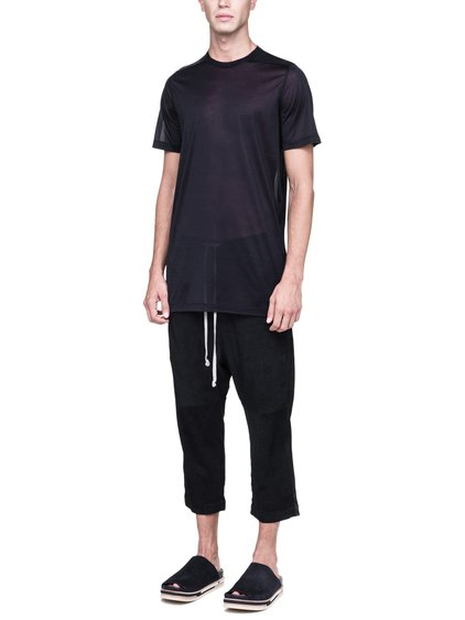 RICK OWENS SS18 DIRT LEVEL TEE IN BLACK