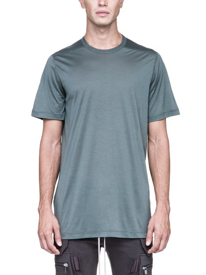 RICK OWENS LEVEL TEE IN SAGE GREEN