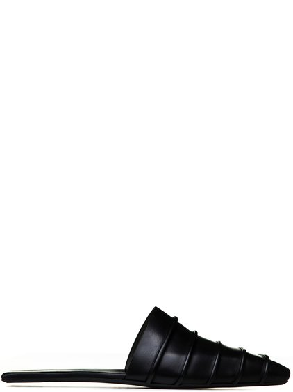 RICK OWENS RUHLMANN HOTEL SLIPPERS IN BLACK
