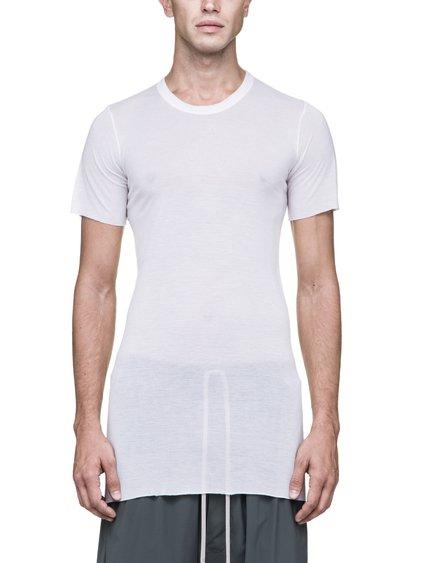 RICK OWENS BASIC SHORT-SLEEVE TEE IN WHITE VISCOSE