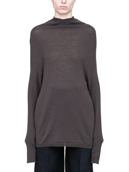RICK OWENS CRATER KNIT IN DARKDUST WOOL