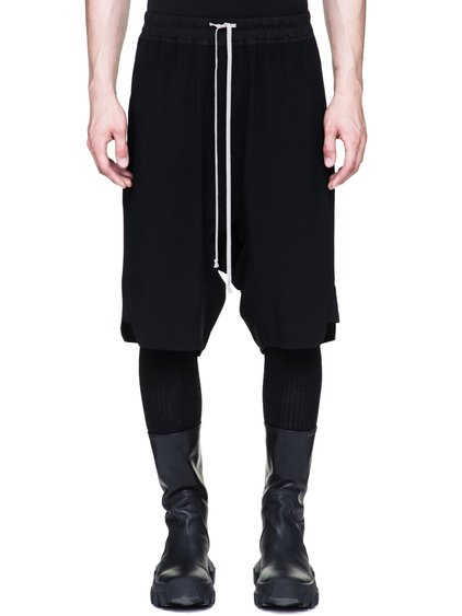 RICK OWENS BASKET SWINGERS IN BLACK HEAVY