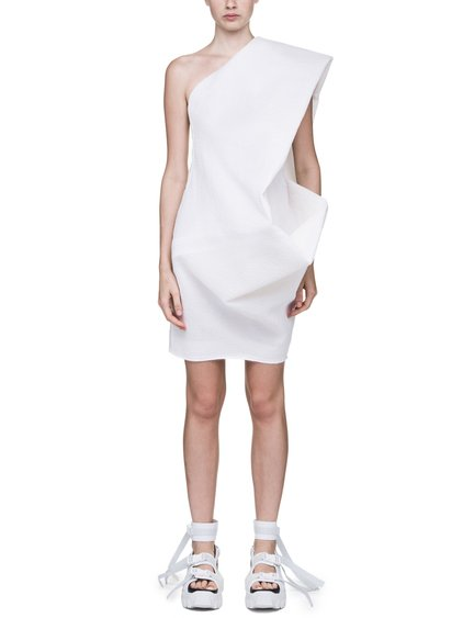 RICK OWENS OFF-THE-RUNWAY BOUQUET TUNIC IN WHITE