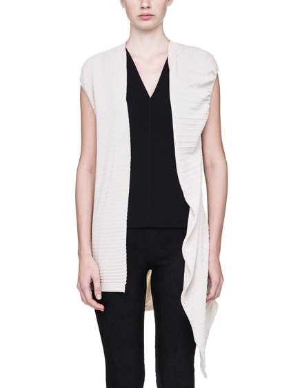 RICK OWENS ABSTRACT CARDIGAN IN NATURAL