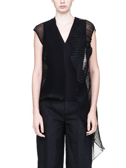 RICK OWENS ABSTRACT CARDIGAN IN BLACK IS SEE-THROUGH