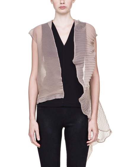 RICK OWENS ABSTRACT CARDIGAN IN NATURAL IS SEE-THROUGH