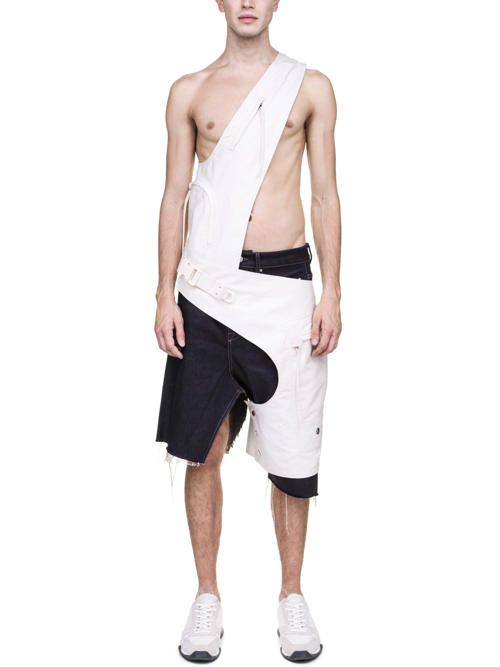 RICK OWENS OFF-THE-RUNWAY CROSS CARGO CHAP IN NATURAL LIGHT