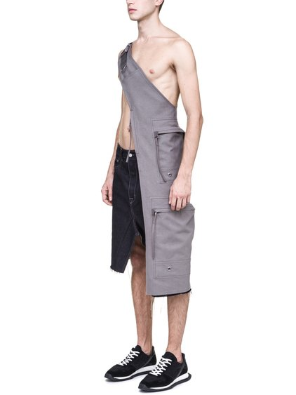 RICK OWENS OFF-THE-RUNWAY SEEDING CARGO CHAP IN DUST GREY