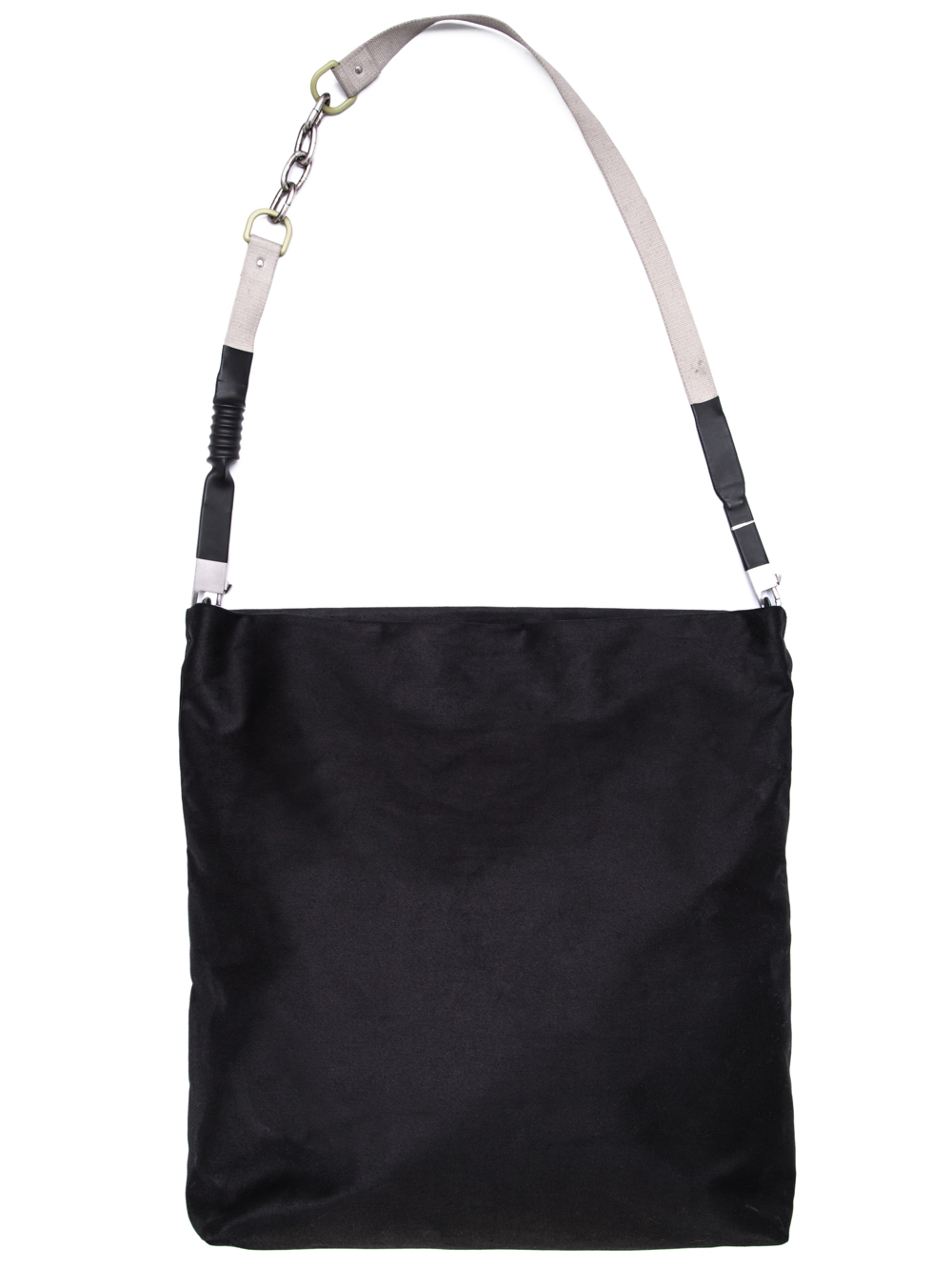 RICK OWENS OFF-THE-RUNWAY CARGO ADRI BAG IN BLACK COTTON