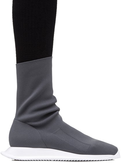 DRKSHDW LOW RUNNER STRETCH SOCK SNEAKERS IN DARKDUST GREY