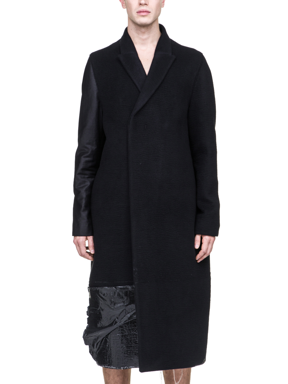 RICK OWENS OFF-THE-RUNWAY BELL COAT IN BLACK CASHMERE