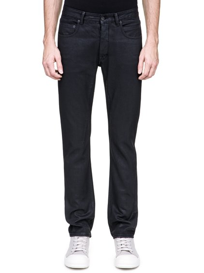 DRKSHDW DETROIT CUT JEANS IN BLACK 13OZ WAX DENIM