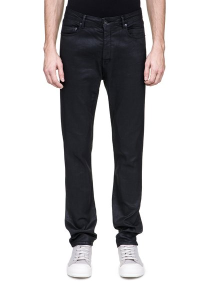 DRKSHDW TORRANCE CUT JEANS IN 10OZ STRETCH BLACK WAX DENIM