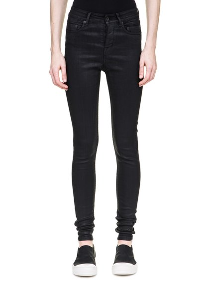 DRKSHDW AUSTIN CUT JEANS IN 10OZ STRETCH BLACK WAX DENIM