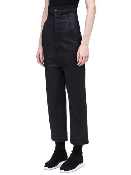 DRKSHDW DIRT JEANS IN 10OZ STRETCH BLACK WAX DENIM