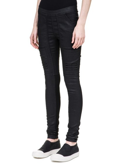 DRKSHDW NAGAKIN LEGGINGS IN 10OZ STRETCH BLACK WAX DENIM