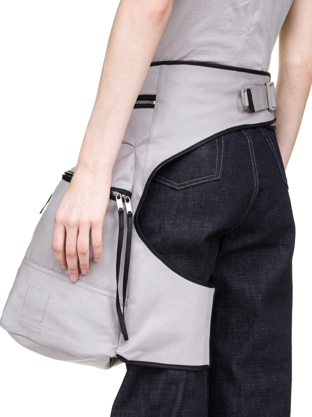 Drkshdw Fw18 Sisyphus Kangaroo Bag In Pearl Grey