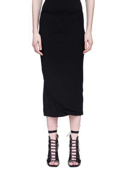 RICK OWENS LILIES SKIRT IN BLACK