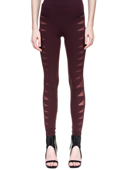 RICK OWENS LILIES LEGGINGS IN BLOOD RED