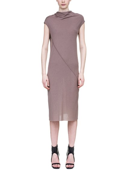 RICK OWENS LILIES DRESS IN FLESH PINK
