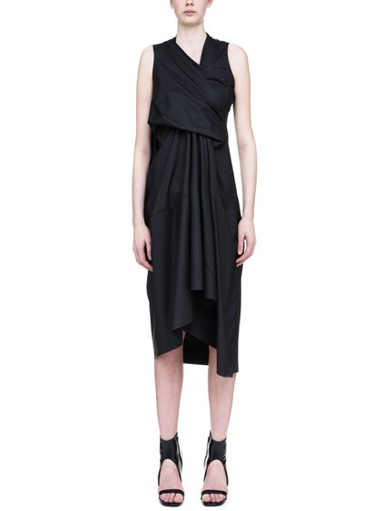 RICK OWENS LILIES TORNADO DRESS IN BLACK
