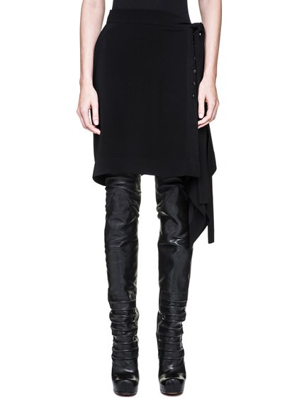 RICK OWENS FORTUNY SKIRT IN BLACK