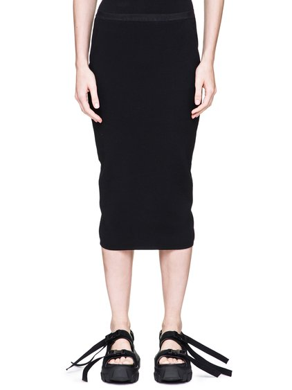 RICK OWENS SOFT PILLAR SHORT SKIRT IN BLACK