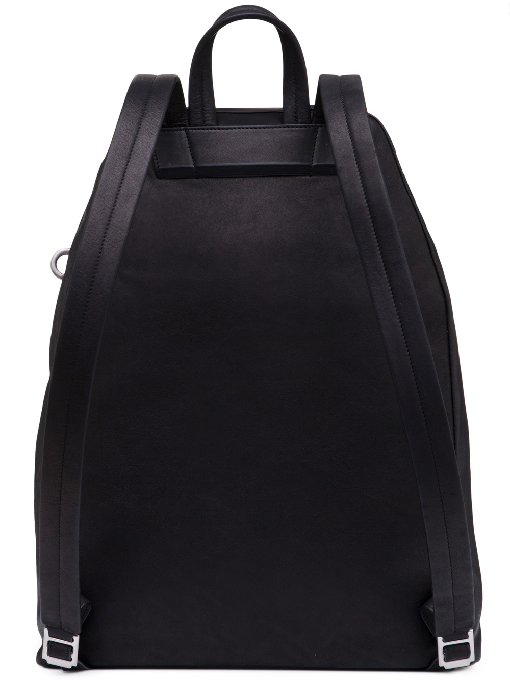 RICK OWENS BACKPACK IN BLACK CALF LEATHER