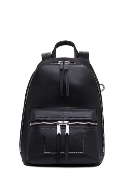 RICK OWENS MINI BACKPACK IN BLACK GOAT LEATHER