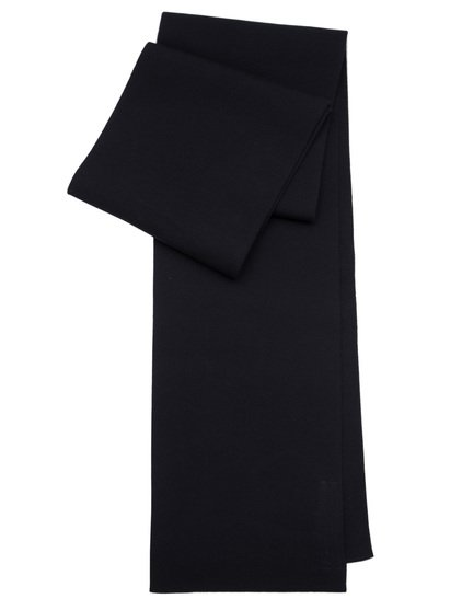 RICK OWENS SCARF IN  BLACK SCULPTURE KNIT