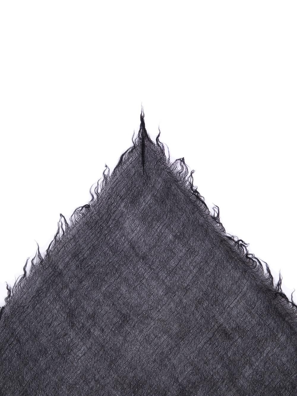 RICK OWENS FW18 SISYPHUS FOLLO SCARF IN BLACK CASHMERE.