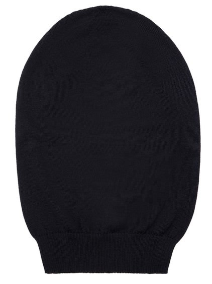 RICK OWENS FW18 SISYPHUS BIG HAT IN BLACK NEW WOOL