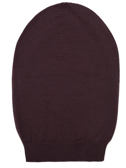 RICK OWENS BIG HAT IN RAISIN PURPLE NEW WOOL