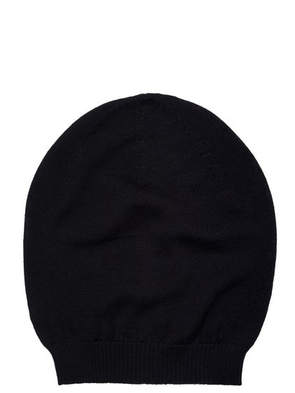 RICK OWENS MEDIUM HAT IN BLACK NEW WOOL