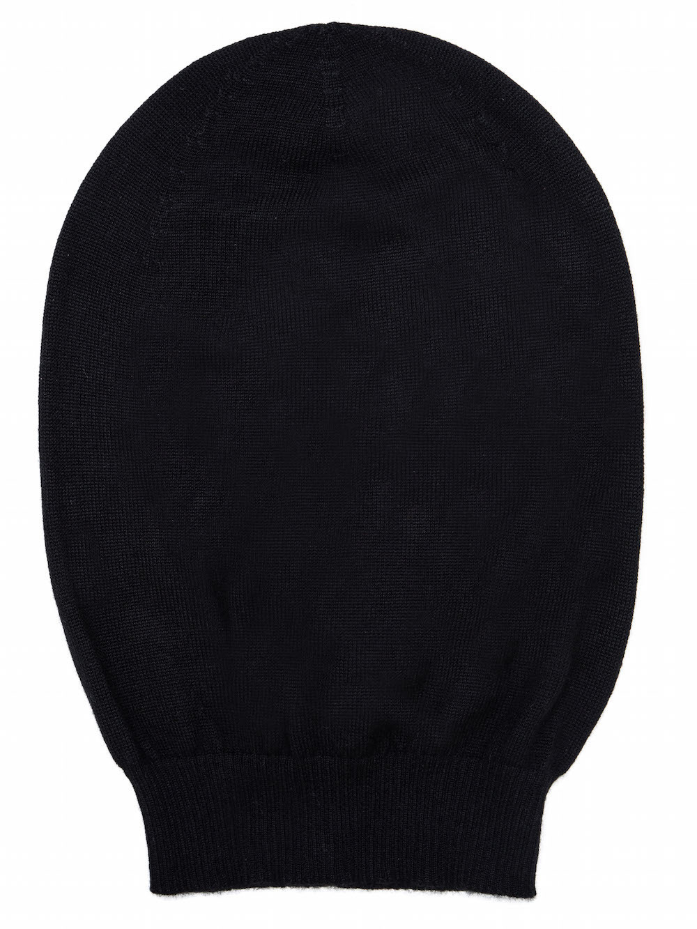 787e8300765 RICK OWENS MEDIUM HAT IN BLACK CASHMERE HAS A SLIGHTLY OVERSIZED FIT AND MORE  VOLUME WHEN
