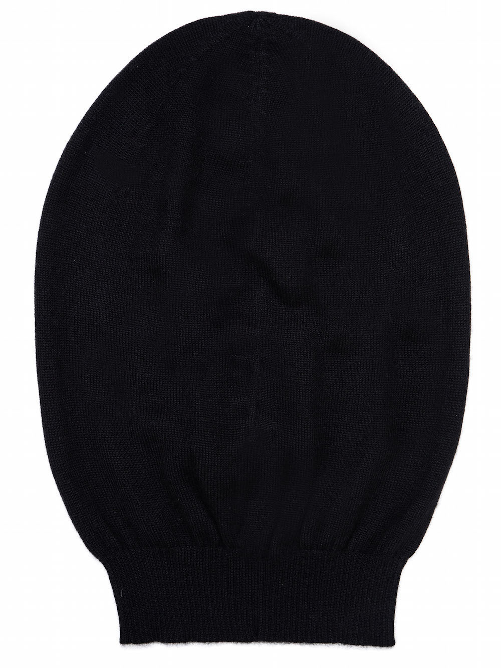 803e834b95f RICK OWENS MEDIUM HAT IN BLACK CASHMERE HAS A SLIGHTLY OVERSIZED FIT AND MORE  VOLUME WHEN
