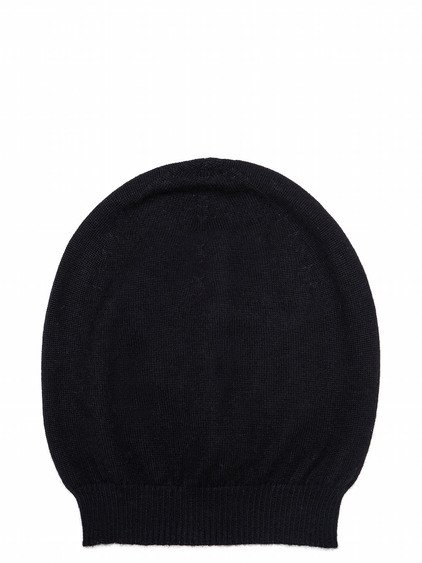 RICK OWENS HAT IN BLACK CASHMERE