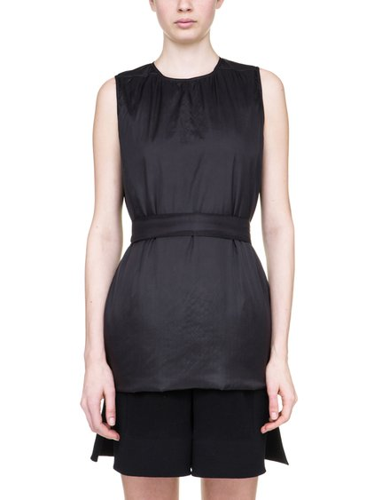 RICK OWENS OFF-THE-RUNWAY SISYTANK TUNIC IN BLACK