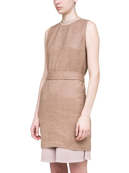 RICK OWENS OFF-THE-RUNWAY SISYTANK TUNIC IN BEIGE CAMEL WOOL