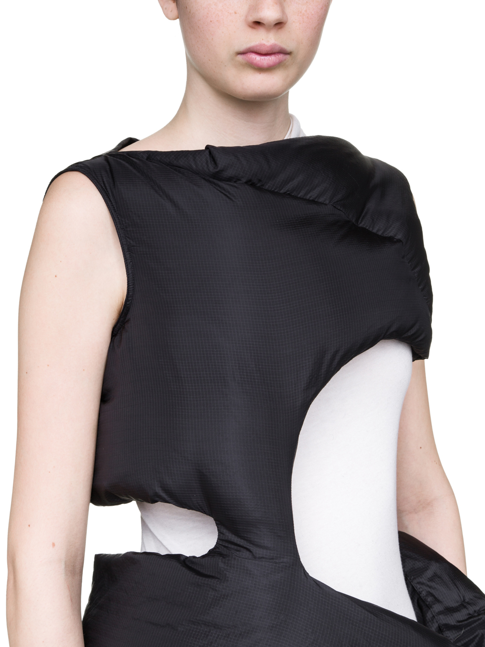 RICK OWENS OFF-THE-RUNWAY MINISHRED TUNIC IN BLACK