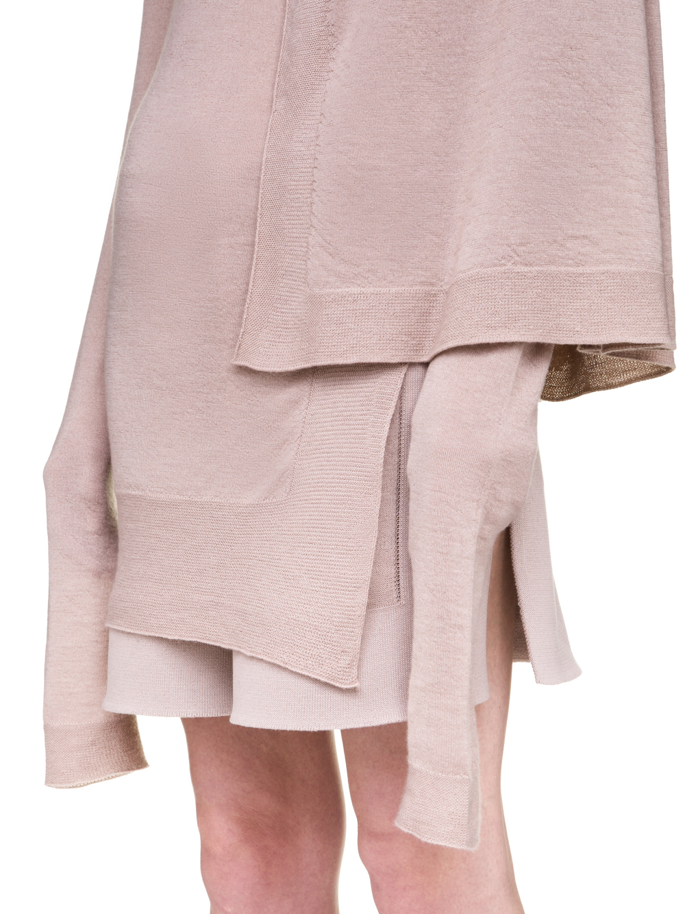 RICK OWENS OFF-THE-RUNWAY CAPE TUNIC IN PETAL PINK S