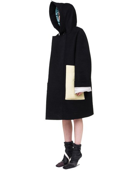 RICK OWENS OFF-THE-RUNWAY SECRET PARKA IN BLACK