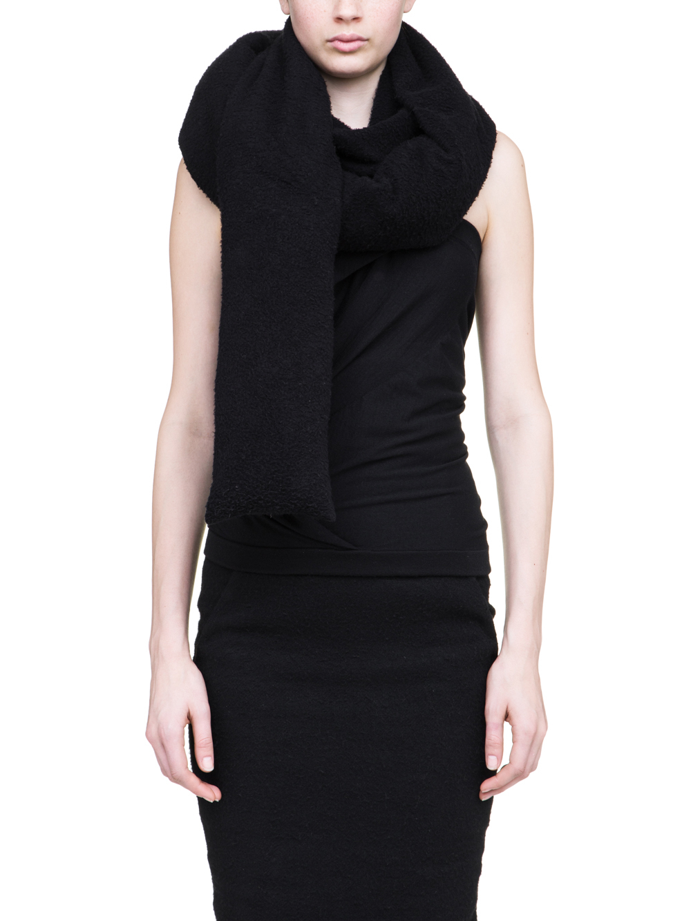 RICK OWENS OFF-THE-RUNWAY MINI STOLE