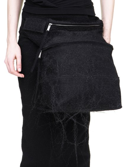 RICK OWENS OFF-THE-RUNWAY FERTILITY BELT IN BLACK PLASTIC MESH