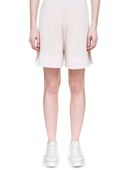 RICK OWENS OFF-THE-RUNWAY BOXERS IN NATURAL SCULPTURAL KNIT