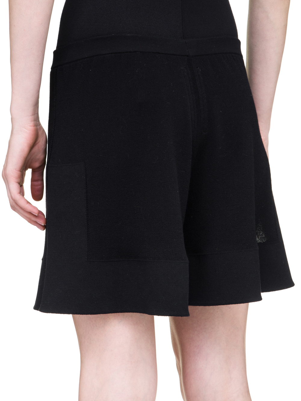 RICK OWENS OFF-THE-RUNWAY BOXERS IN BLACK SCULPTURAL KNIT