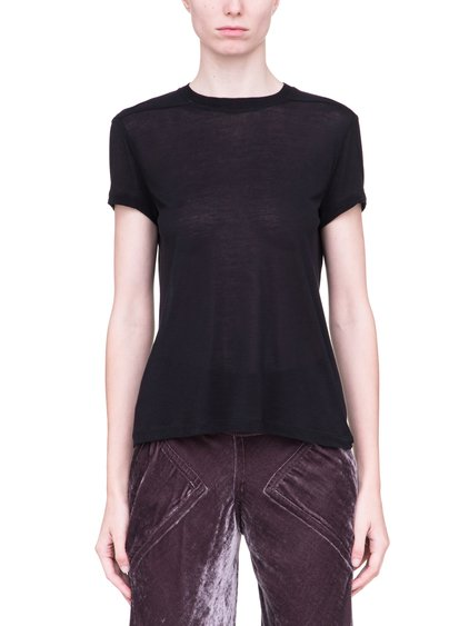 RICK OWENS  SHORT LEVEL SHORT-SLEEVE TEE IN BLACK VISCOSE